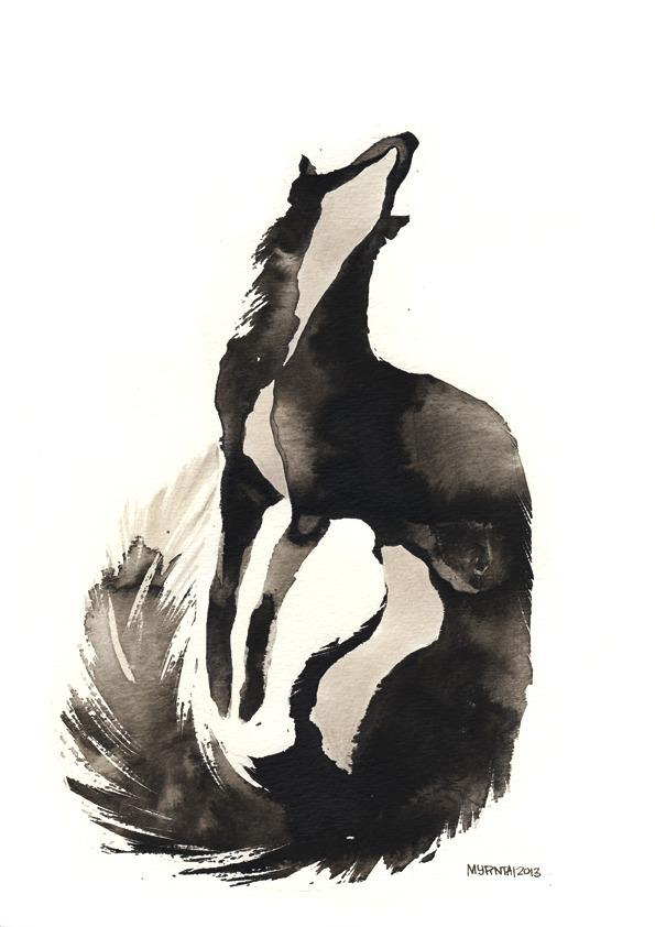 Ink Fox - ink, fox, illustration - myrntai | ello