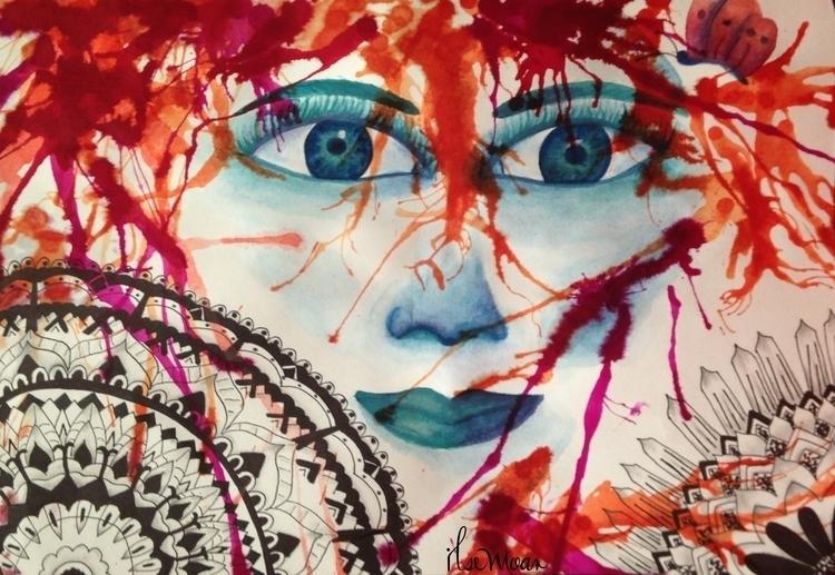 WOMAN - illustration, painting, drawing - ilsemoar | ello