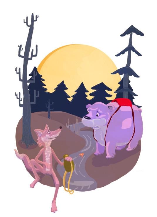 woods, short story illustration - cjwords   ello