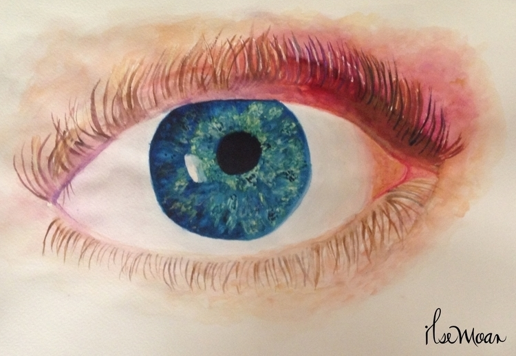 EYE - illustration, painting, drawing - ilsemoar | ello