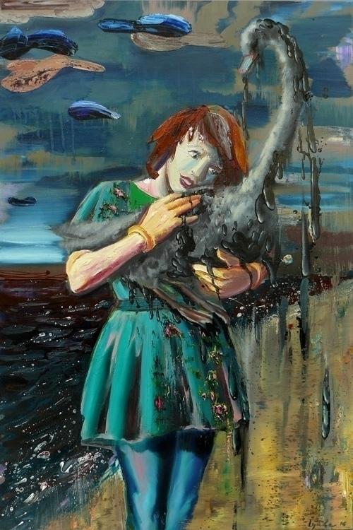 Savior ,oil,varnish canvas,135x - lyube | ello