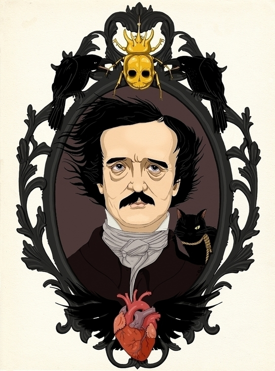 magnificent Edgar Allan Poe - illustration - elia | ello