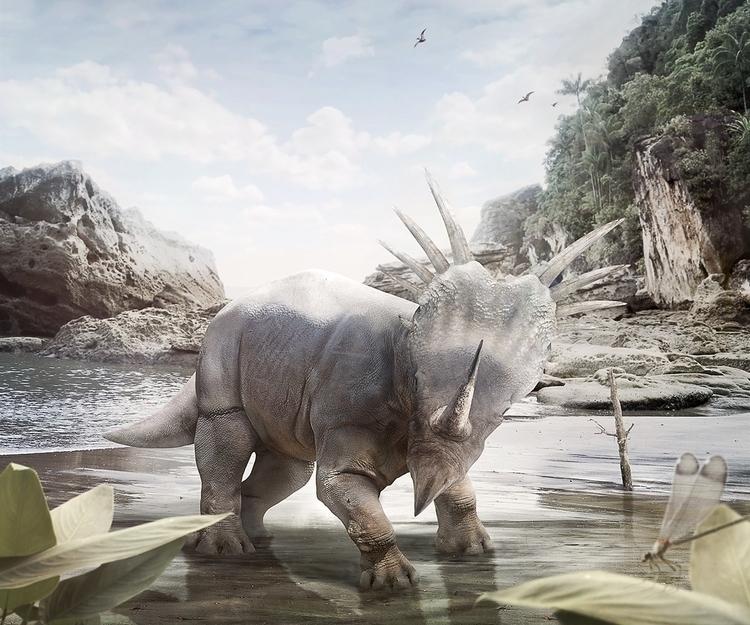 Triceratops - dinosaur, cgi, postproduction - elena_g-1216 | ello
