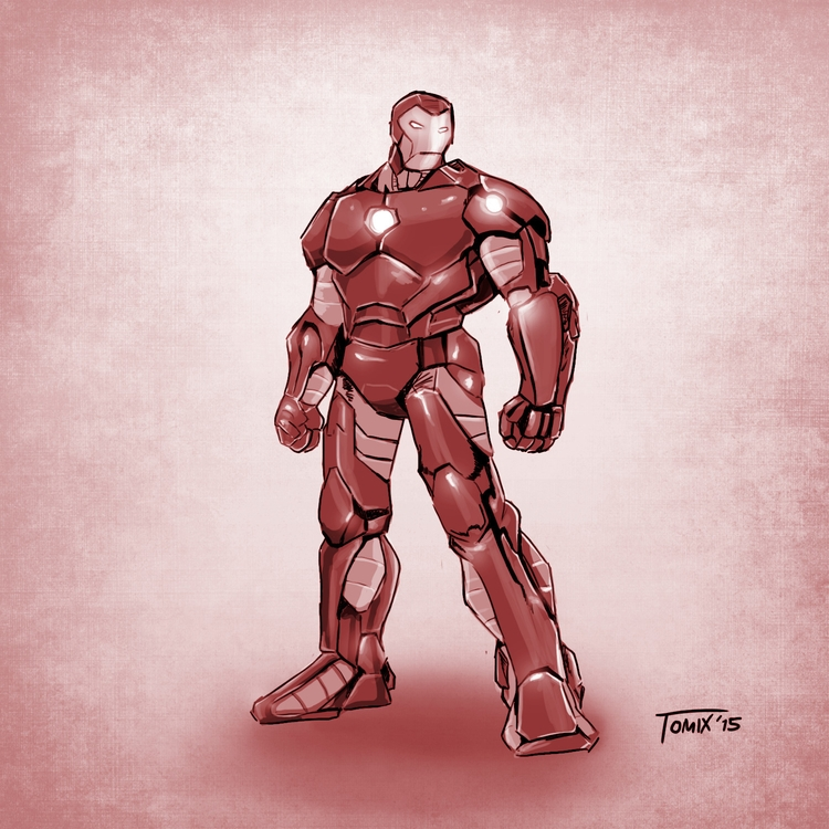 quick digital sketch Iron Man - avengers - tomix93 | ello