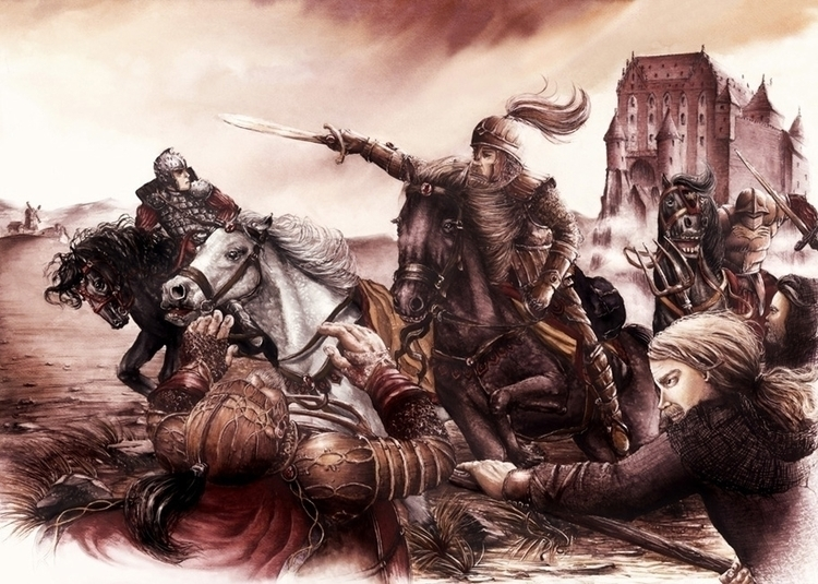 Medieval Battle - illustration, fantasy - grimdream | ello