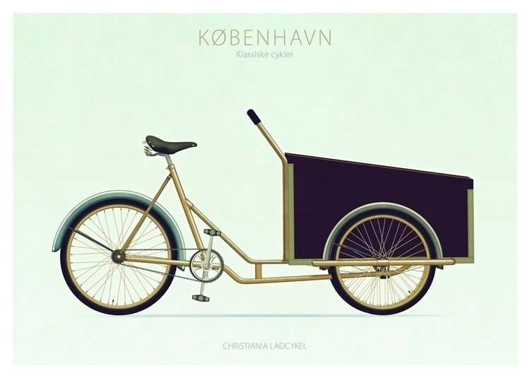 Christiania Ladcykel - illustration - do-6747 | ello