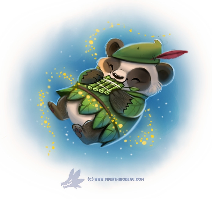 Daily Paint Peter Panda - 1233. - piperthibodeau | ello