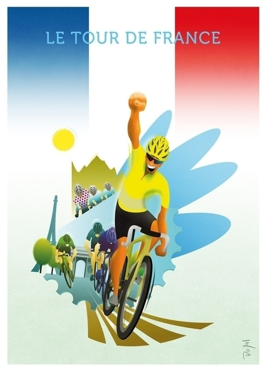 Le Tour de France - illustration - do-6747 | ello