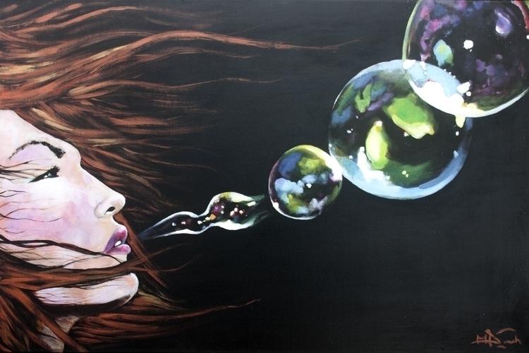 Bubbalicious - painting - elasticcanvas   ello