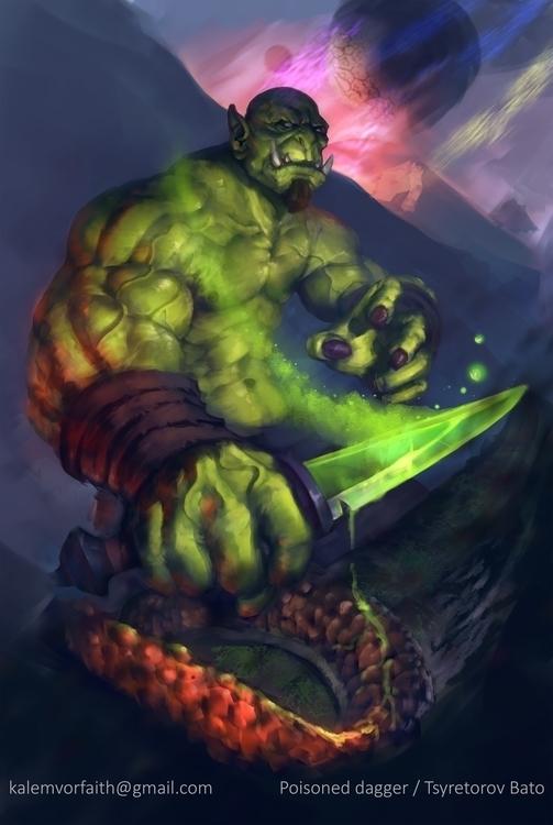 worldofwarcraft, orc, dagger - khlaalu | ello