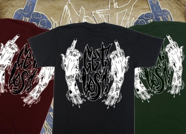 Lost - illustration, tshirt, tshirtdesign - w8id | ello