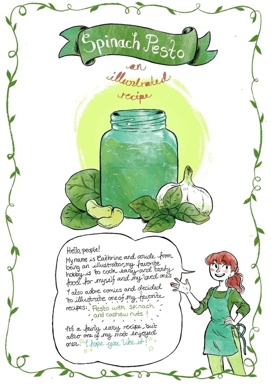 illustrated pesto recipe, pg 1 - cathrineillu | ello