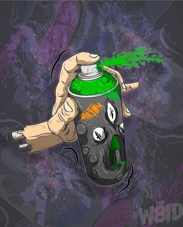 Spraypaint - spraypaint, spray, drawing - w8id | ello