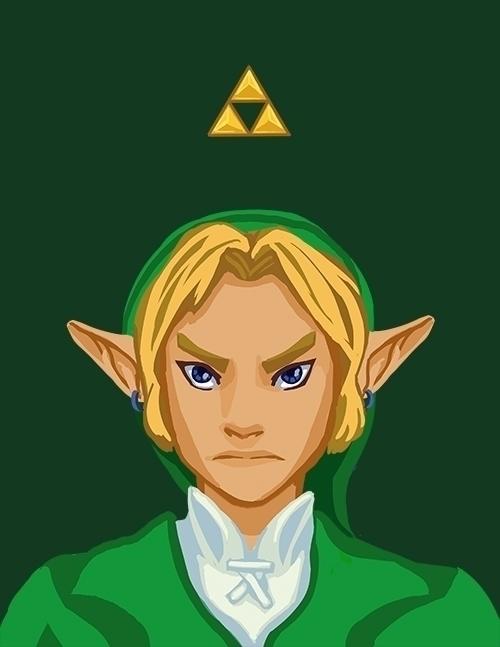 Link - portrait, link, zelda, thelegendofzelda - anndorphin | ello