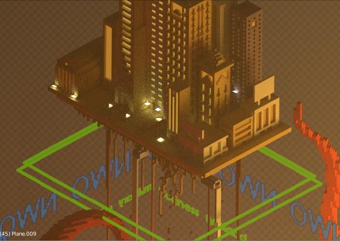 process - illustration, voxelart - heycris | ello