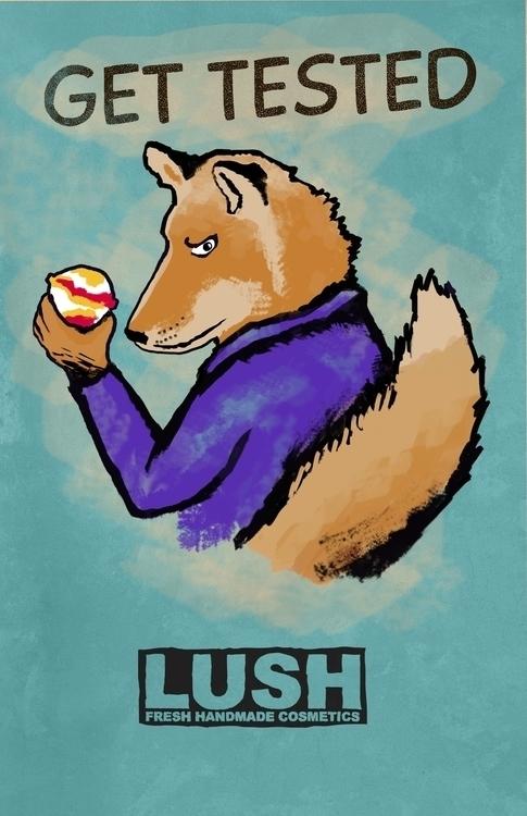 LUSH poster design part Ad camp - violetskyart | ello