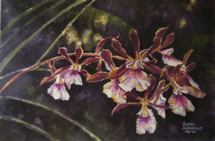 Orchids watercolor strathmore p - mjastudillo | ello