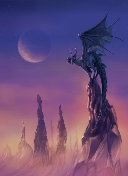 Inspired Dragon World. Created  - pablocazorla | ello
