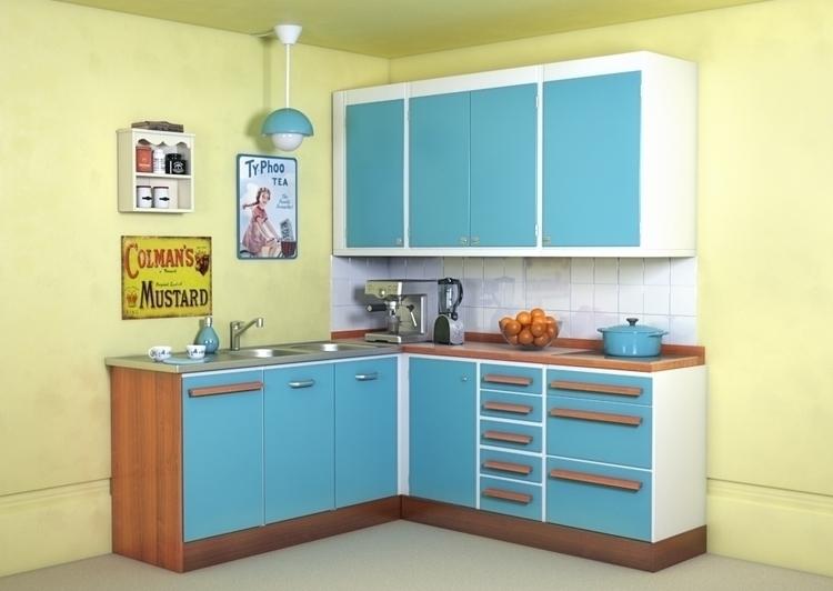 Vintage kitchen - 3d, #vintage - arylaszlo | ello