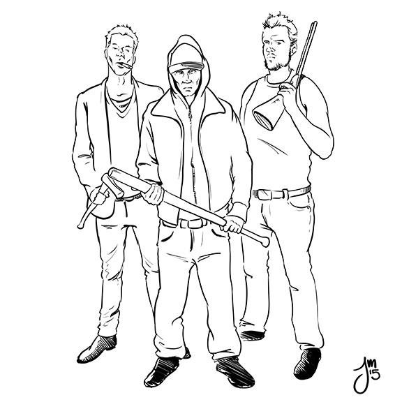 Inktober thugs beat - DailyDoodle - jasonmartin-1263 | ello