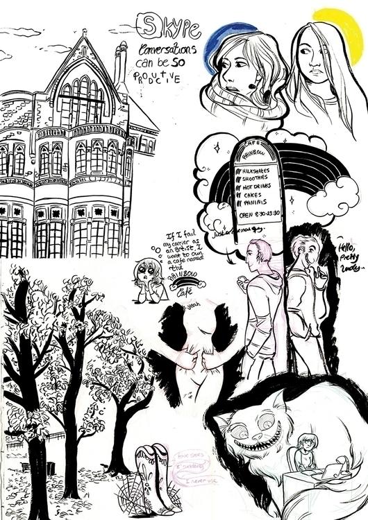 Ink sketches travel journal sta - cathrineillu | ello