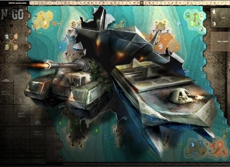 Concept art NGO Boardgame box.  - pablocazorla | ello