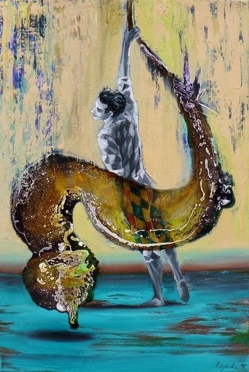 Flash dance, oil, varnish canva - lyube | ello