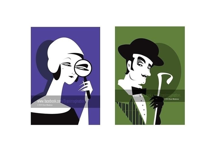 Marple Monsieur Poirot - illustration - branimagination | ello