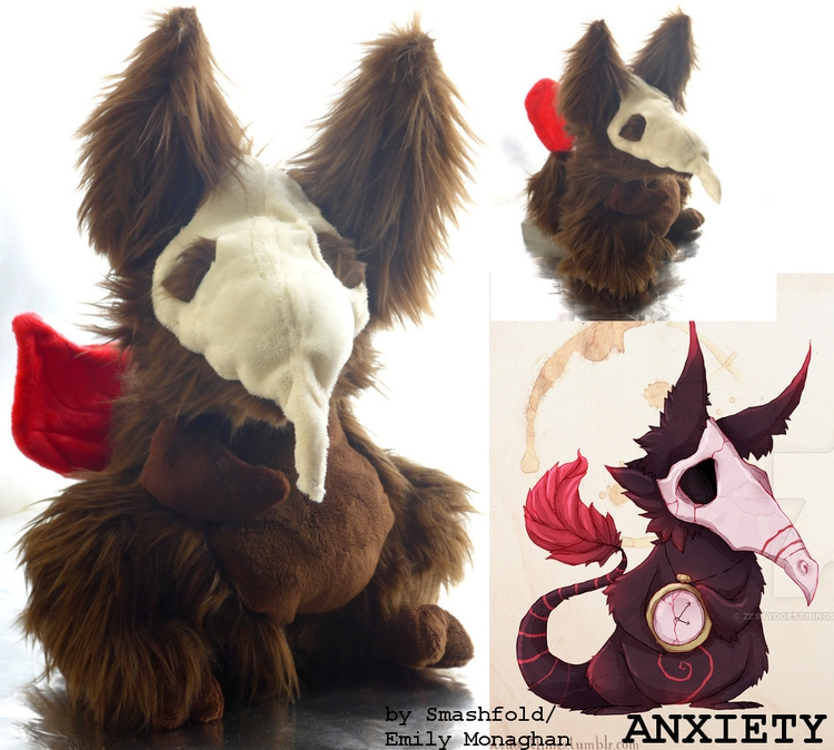 Anxiety - Real Monster plush! c - smashfold | ello