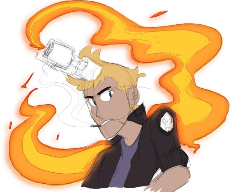 flame test - sketch, colortest - darkdarren | ello