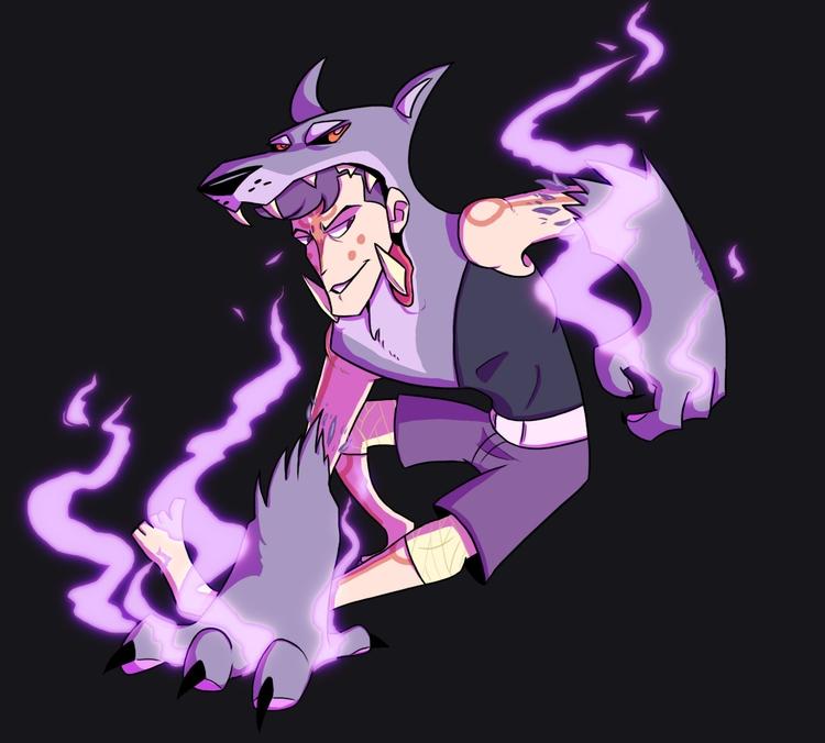 Wolf wizard - art, wolf - darkdarren | ello