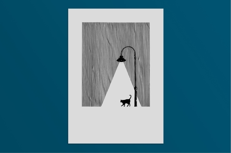 ALLEY CAT Illustration drawn co - marmart88 | ello