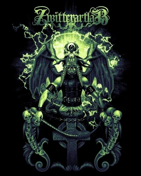 knight hell - illustration, dark - zalartworks | ello