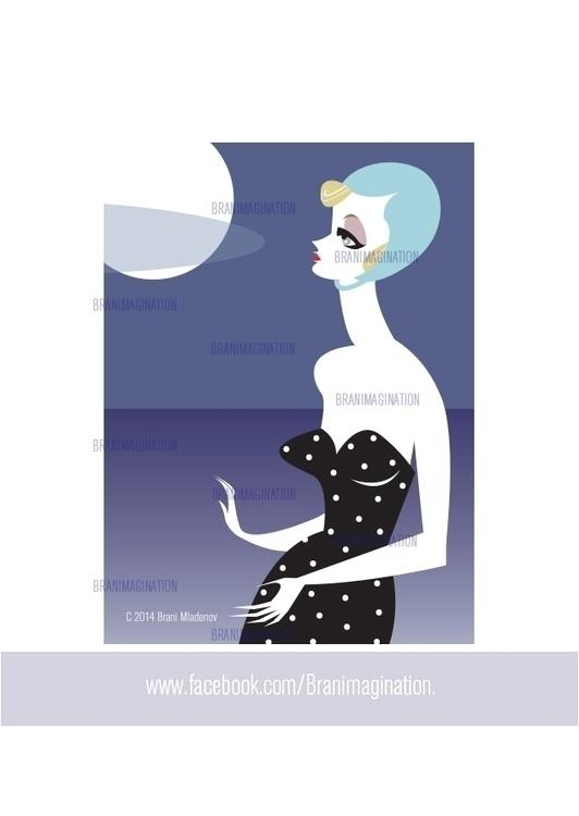 Moon bathing  - design, fashion - branimagination | ello