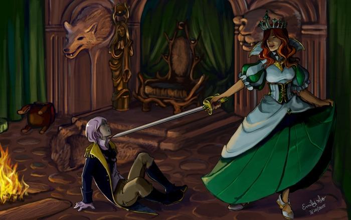 Game story scene illustration - gamedev - emilyso321 | ello