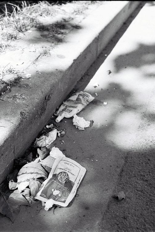 Photo Shanghai - trash, street, gutter - ibelcic | ello