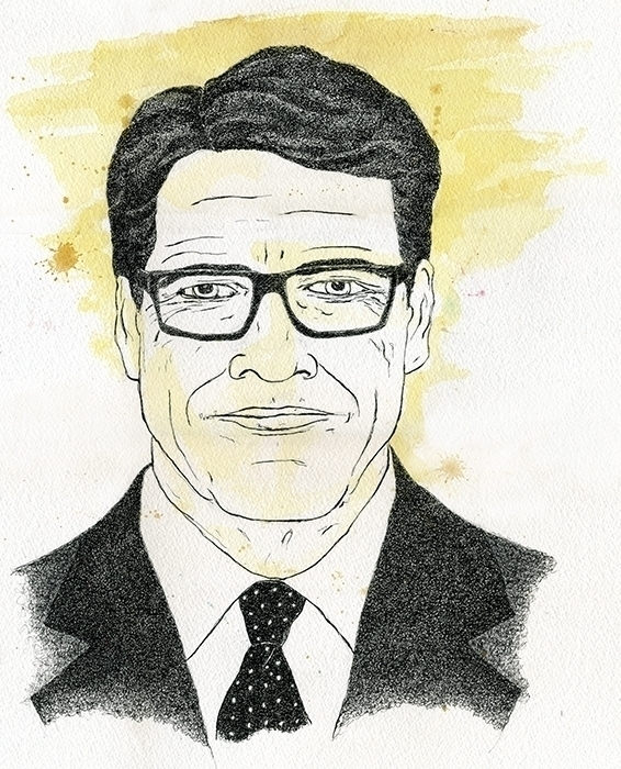 Rick Perry Illustration - portrait - gtnelson | ello