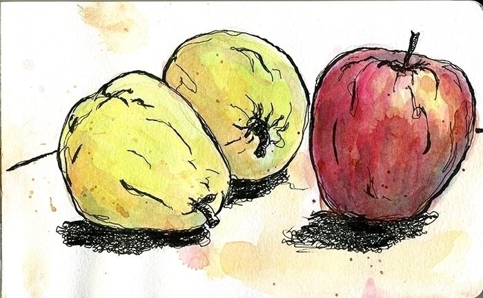 Pears Apple - foodillustration, food - gtnelson | ello