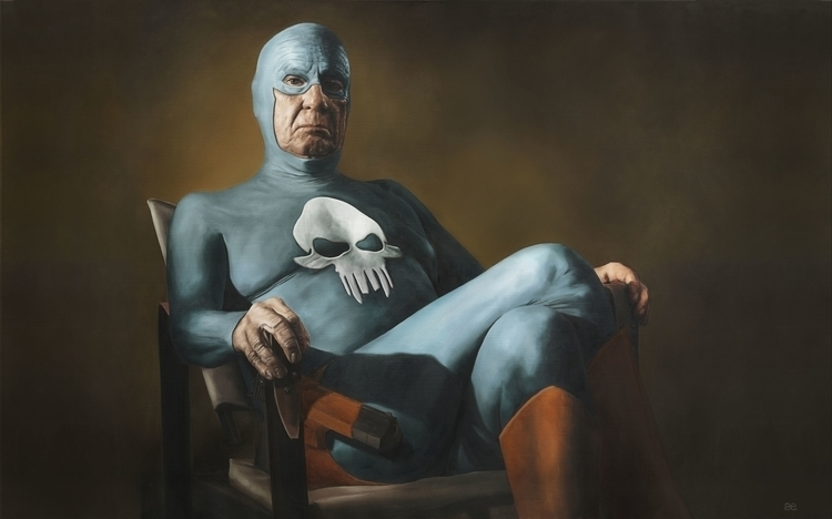 """""""Sitting"""" Oil canvas – print - painting - andreasenglund-4144 