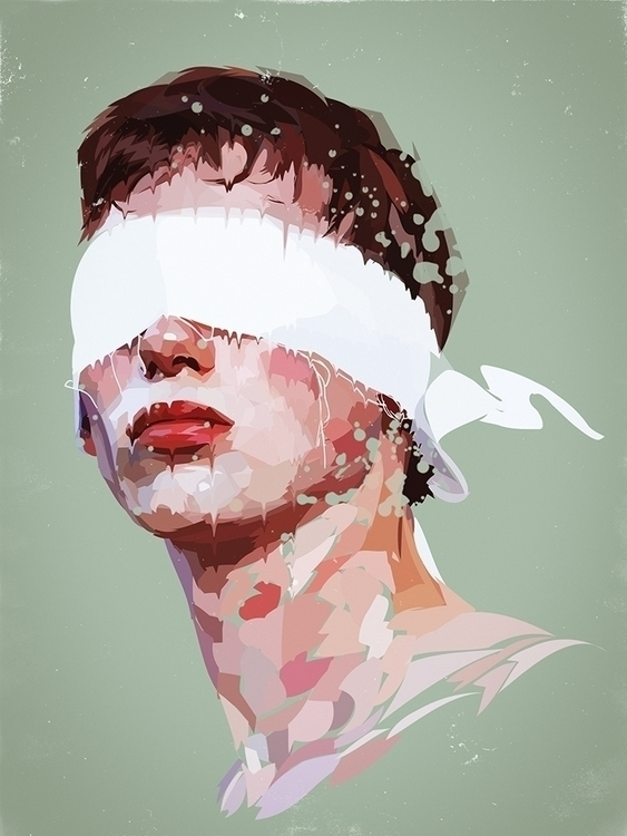 Blindfolded - guy, man, blindfolded - roxycolor | ello