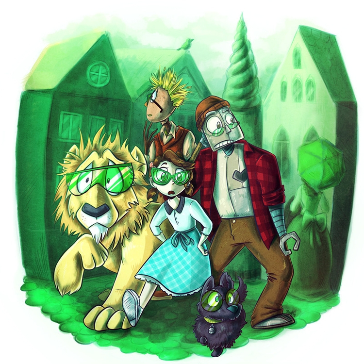 Emerald City. Illustration Wond - redthemarten-6210 | ello