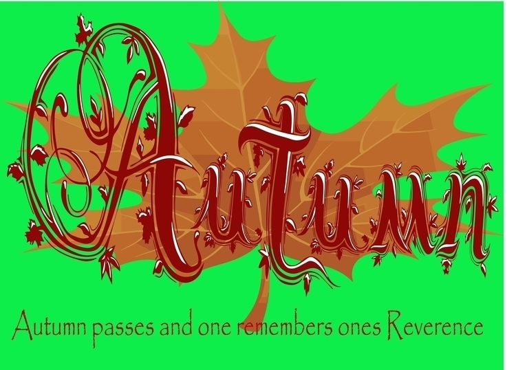 hand-lettered illustration Autu - ryanbrady1010 | ello