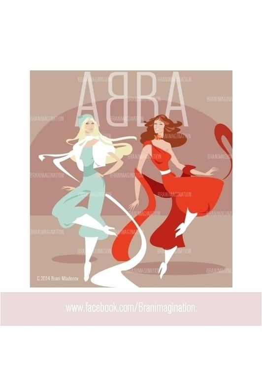 ABBA - illustration, characterdesign - branimagination | ello