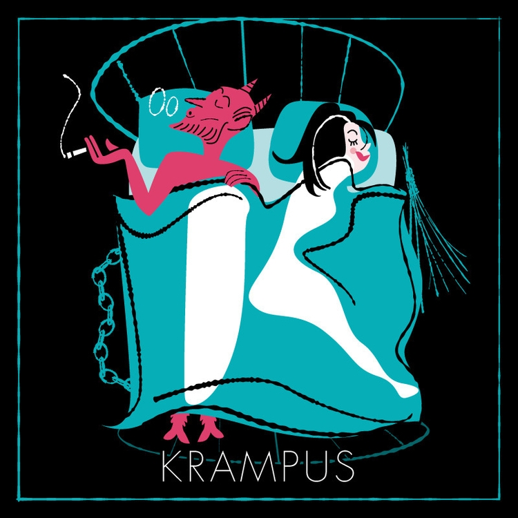 krampus, illustration, adobeillustrator - dimilo | ello