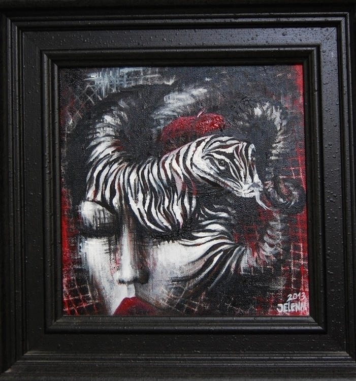 Medusa - painting, pattern, canvas - jelenalazic | ello