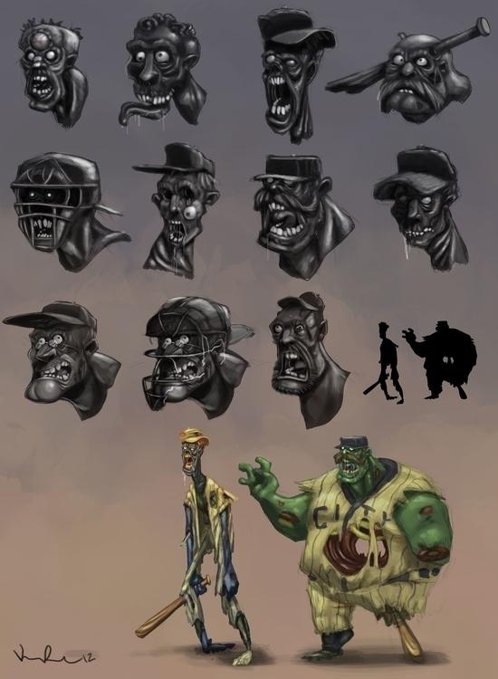Zombies - zombie, zombies, characterdesign - kirkparrish | ello