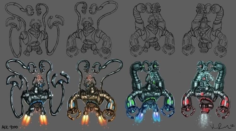 Robots - robot, robots, characterdesign - kirkparrish | ello