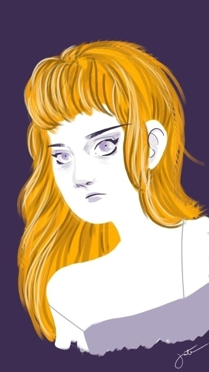 Doodle - girl, illustration - thisjustine | ello
