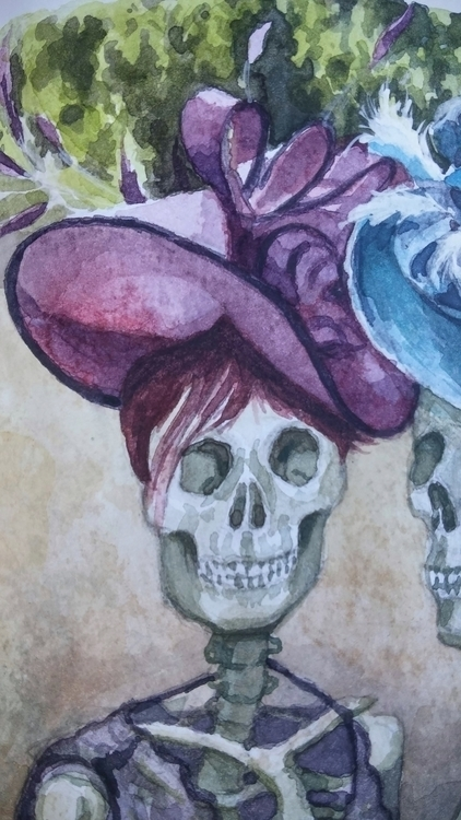 Day Races - Detail 2 - skulls, illustration - christoff3000-1340 | ello