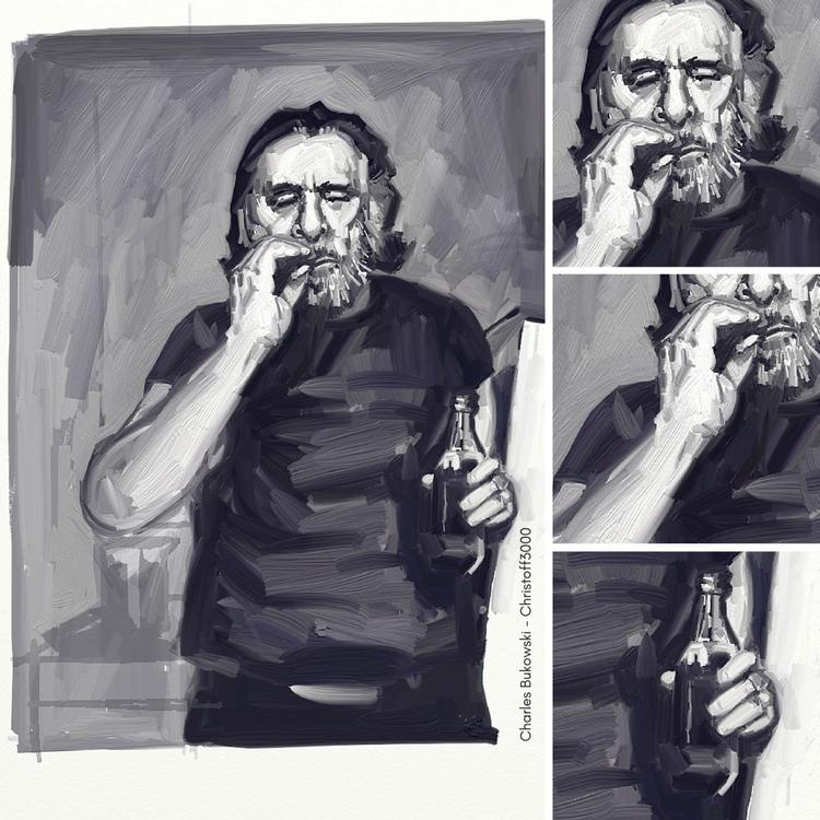 Portrait Charles Bukowski - Det - christoff3000-1340 | ello